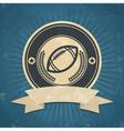 Retro American Football Emblem vector image vector image
