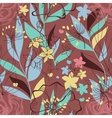 Retro floral seamless pattern Colorful plants vector image vector image