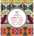seamless colorful tribal pattern vector image vector image