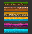 Seamless ground elements set landscape vector image