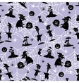 Seamless Pattern Halloween Symbols vector image vector image