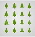 set of christmas tree vector image vector image