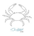 silhouette crab linear silhouette crab crab vector image vector image