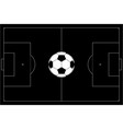 soccer ball on football pitch black outline vector image