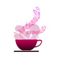 sound of coffee isolated on white backgroundhappy vector image vector image