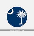 south carolina round circle flag vector image vector image