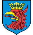Szczecin coat-of-arms vector image vector image