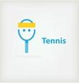 Tennis symbol vector image vector image