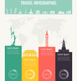 travel infographic infographics for business web vector image