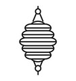 wedding chinese lantern icon outline style vector image vector image