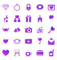 wedding gradient icons on white background vector image