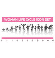 woman life cycle icons vector image vector image