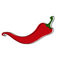 red chili pepper in vintage retro style vector image
