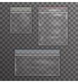 Big and Little plastic bag icon set transparent vector image