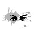 Handmade ink drawing of eyes vector image