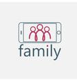 happy family selfie design template vector image