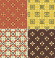 Red and Yellow Patterns vector image