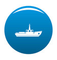 ship fishing icon blue vector image
