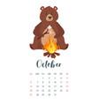 2019 year calendar page vector image vector image