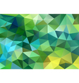 abstract blue green low poly background vector image