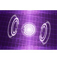 abstract digital technology purple background vector image vector image