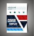 abstract report cover2 vector image vector image