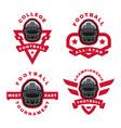 american football set sport logo emblem vector image vector image