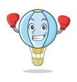 boxing air balloon character cartoon