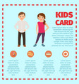 boy and girl in trendy clothes vector image vector image