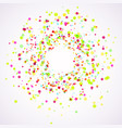 bright colorful holi paint splatter layout vector image vector image