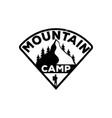 camping black vintage emblem monochrome logo of vector image