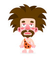 cartoon cave-man in animal skin on vector image