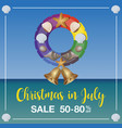 christmas in july sale marketing template vector image