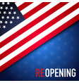 concepts reopening america after quarantine vector image