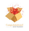 congratulations box concept vector image