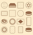 cookie cracker and biscuit silhouette icon vector image vector image