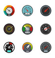 dashboard icon set flat style vector image vector image
