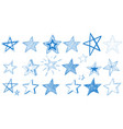 different designs of blue stars vector image vector image