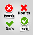 do and dont icons vector image vector image
