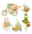 Easter bunnies vector | Price: 3 Credits (USD $3)