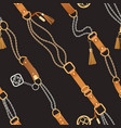 fashion seamless pattern with chains and straps vector image vector image