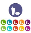 Fast food flat icon vector image vector image