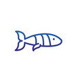 fish tropical marine life thick line blue vector image vector image