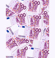 five hundred euro background vertical vector image vector image