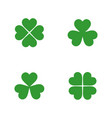 flat clover leaves set vector image vector image