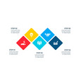flat elements for infographic presentation vector image vector image