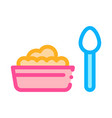 food plate spoon icon outline vector image