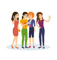 friends share information with each other vector image vector image