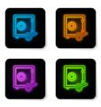 glowing neon prostake icon isolated on vector image vector image