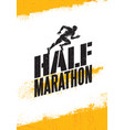 half marathon active sport event advertisement vector image
